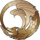 Dragon,ouroboros,Snake,Alchemy,Infinity,Circle,Mythology,Sign,Symbol,uroboros,esoteric,Wing,Frame,Fantasy,Magic,Monster,Eating,Vector,Ilustration,Ancient,Animal Scale,Fang,Claw,Ethereal,The Past,Vector Cartoons,Paranormal,Reptiles,Animals And Pets,Illustrations And Vector Art,Vector Icons