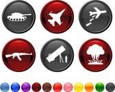War,Military,Symbol,Exploding,Armored Tank,Computer Icon,Icon Set,Bomber Plane,Armed Forces,Bomb,Airplane,Modern,AK-47,Sparse,Vector,Bombing,Black Color,Ilustration,Empty,Design,Blue,Red,Orange Color,Green Color,Yellow,M-1 Abrams Tank,Digitally Generated Image,No People