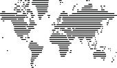 World Map,Globe - Man Made Object,Striped,Global Business,Modern,Global Communications,Vector,Ilustration,Isolated On White,Design,No People