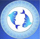Fish,Astrology Sign,Mosaic,Pisces,Sign,Fortune Telling,Symbol,Water,Pixelated,Vector,Ilustration,Ancient,Backgrounds,Blue,Design Element,Turquoise,Computer Graphic,Old,Insignia,Star - Space,Old-fashioned,Fantasy,Forecasting,Month,Antique,Part Of,Vector Icons,Vector Cartoons,Illustrations And Vector Art,Concepts And Ideas,Character Traits