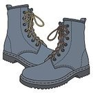 Humor,Army,Cartoon,On Top Of,Farmer,Occupation,Illustration,Armed Forces,Fashion,Heavy,Field,Military,Arts Culture and Entertainment,Fun,Vector,Old,Working,Punk - Person,Occupation,Blue,Shoe,Boot,Leather