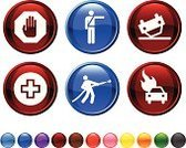 Emergency Sign,Urgency,Emergency Services,Symbol,Police Force,Stop,Computer Icon,Icon Set,Firefighter,Traffic Cop,Auto Accidents,Car,Fire - Natural Phenomenon,Accident,Human Hand,Speed,Stop Gesture,Fire Hose,Vector,Stop Sign,Pointing,Red,Land Vehicle,Black Color,Green Color,Yellow,Stick Figure,Sparse,Beat The Clock,Modern,Guidance,Blue,Digitally Generated Image,Ilustration,Burning,No People,Empty,Orange Color,Upside Down,Design