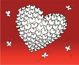 Love,Butterfly - Insect,Valentine's Day - Holiday,Heart Shape,Pattern,Sketch,Shape,Backgrounds,Drawing - Art Product,Vector,Ilustration,Pencil Drawing,Color Image,Image,No People,Valentine's Day,Vector Cartoons,Weddings,Image Created 2000s,Illustrations And Vector Art,Holidays And Celebrations