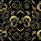 Gold Colored,Pattern,Black Color,Baroque Style,Seamless,Backgrounds,Floral Pattern,Flower,Vector,Textile,Textured,Swirl,Retro Revival,Scroll Shape,Decoration,Repetition,Symbol,Ornate,Antique,Elegance,Curve,Old-fashioned,Computer Graphic,Art,Plant,Classical Style,Leaf,Wallpaper Pattern,Ilustration,Silhouette,Branch,Drawing - Art Product,Curled Up,Bush,Shape,Nature,Illustrations And Vector Art,Nature,Botany,Vector Backgrounds,Plants,Vector Ornaments,Painted Image