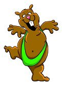 Hamster,Rodent,Looking At Camera,Bikini,Cheerful,Green Color,Happiness,Brown,Standing,Incomplete