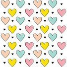 Love,Scrapbook,Valentine's Day - Holiday,Illustration,Shape,Valentine Card,Wrapping Paper,Seamless Pattern,Heart Shape,Clip Art,Backgrounds,Vector,Design,Multi Colored,Pattern,Textile