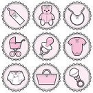 Diaper,Baby Carriage,Toy Rattle,Religious Icon,Baby Goods,Bib,Baby Bottle,Teddy Bear,Pacifier,Toy,Symbol,Cute,Ilustration,Clothing,Diaper Pin,Stuffed Toy,Moses Basket,Infant Bodysuit,Vector,Stitch,Icon Set,Clip Art,Femininity,Ribbon,Bow,Vector Icons,Vector Cartoons,Lifestyle,Illustrations And Vector Art,Babies And Children