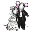 Love,Animal,Cute,Wedding,Holiday - Event,Beauty,Valentine's Day - Holiday,Cartoon,Illustration,Bride,Couple - Relationship,Mouse,Bridegroom,Small,Tail,Vector,Gray