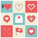 Pixelated,Celebration,Mail,Love,Sign,Wedding,Valentine's Day - Holiday,Illustration,Arrow - Bow and Arrow,Icon Set,Computer Icon,Arrow Symbol,Letter,Heart Shape,Letter,Flag,Valentine's Day - Film Title,Vector,Design