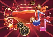 Dance And Electronic,Musical Note,Music,MP3 Player,Rock and Roll,Hip Hop,Disco,Music Style,Backgrounds,Hip Hop,Frame,Modern Rock,Nightclub,Electro Pop,Funky,Sound,Cool,Audio Equipment,Headphones,Group of Objects,Speaker,Abstract,Youth Culture,sonic,Modern,Star Shape,Alternative Rock,Concepts,Shiny,Red,Multi Colored,Music,Holidays And Celebrations,Arts And Entertainment,Ilustration,Volume,Vector Cartoons,Illustrations And Vector Art,Vibrant Color,Clip Art,Parties,Modern Music,Curled Up,Decoration