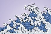 Wave,Sea,Tsunami,Storm,Surf,Wind,Water,Vector,Drawing - Art Product,Foam,Drawing - Activity,Ilustration,Sky,Curve,Pencil Drawing,Blue,Nature,No People,Nature Backgrounds,Bodies Of Water,Illustrations And Vector Art,Weather,Nature