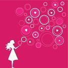 Bubble,Love,Heart Shape,Pink Color,Teenage Girls,Women,Valentine's Day - Holiday,Silhouette,Ideas,Concepts,Imagination,Shape,Fantasy,Valentine's Day,Vector Cartoons,Feelings And Emotions,Illustrations And Vector Art,Concepts And Ideas,Holidays And Celebrations