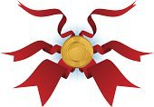 Award Ribbon,Ribbon,Award,Shield,Gold,Gold Colored,Coin,Laurel Wreath,Ilustration,Banner,Three-dimensional Shape,Illustrations And Vector Art,Vector Icons,Isolated,Symbol,Vector,Computer Graphic,Design Element
