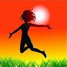 Fairy,Women,Jumping,Teenage Girls,Silhouette,Happiness,Cheerful,Victory,Success,Life,Flying,Summer,Human Arm,The Human Body,People,Positive Emotion,Vector,One Person,Arms Outstretched,Winning,Teenager,Fun,Freedom,Springtime,Black Color,Female,Ecstatic,Green Color,Joy,Achievement,Sunset,Ilustration,Sun,Sky,Magic,Grass,Light - Natural Phenomenon,New Life,Excitement,Sunlight,Orange Color,Yellow,Design,Nature,Young Adult,Feelings And Emotions,Vector Backgrounds,Illustrations And Vector Art,Vector Cartoons,On Top Of The World,Outdoors,Concepts And Ideas