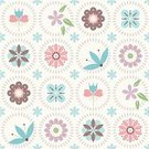 Pattern,Retro Revival,Seamless,Tulip,Decoration,Floral Pattern,Springtime,Old-fashioned,Backgrounds,Summer,Textile,Set,Romance,Vector,Wrapping Paper,Leaf,Elegance,Repetition,Square,Textile Industry,Wallpaper Pattern