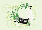 Mask,Costume,Venice - Italy,Carnival,Feather,Theatrical Performance,Party - Social Event,Backgrounds,Frame,Flower,Grunge,Decoration,Floral Pattern,Ornate,Dirty,Black Color,Cultures,Vector Backgrounds,Holiday Symbols,Illustrations And Vector Art,Holidays And Celebrations