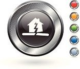 Earthquake,House,Broken,Symbol,Computer Icon,Disaster,Insurance,Breaking,Natural Disaster,Digitally Generated Image,Metallic,Silver - Metal,Red,Accident,Orange Color,Blue,Grid,Green Color,Metal,Curve,White Background,Blank,Silver Colored,Circle