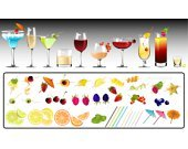 Cocktail,Drink,Fruit,Shot Glass,Raspberry,Lemon,Pineapple,Lime,Slice,Glass - Material,Cherry,Strawberry,Umbrella,Champagne,Blackberry,Peach,Peel,Blueberry,Starfruit,Mint Leaf - Culinary,Ice,Citrus Fruit,Orange Color,Melon,Toothpick,Salt,Red Wine,Red Currant,Food And Drink,Fruits And Vegetables,Drinks,Illustrations And Vector Art