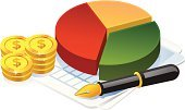 Pie Chart,Computer Icon,Chart,Analyzing,Currency,Symbol,Coin,Finance,Graph,Improvement,Vector,Shiny,Wealth,Backgrounds,Document,Pen,Concepts,Growth,Making Money,Ideas,Stock Market,Achievement,Success,No People,Gold Colored,White,Dollar Sign,Illustrations And Vector Art,Business Concepts,Business Symbols/Metaphors,Design Element,Business,Ilustration,Vector Icons,Green Color