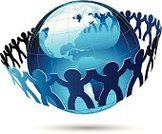 Earth,Global Communications,Connection,Unity,Teamwork,Holding Hands,Partnership,USA,Link,Paper Chain,Team,Togetherness,Sphere,Cut Out,Attached,Design Element,Paper Cutout,Business Symbols/Metaphors,Vector Icons,Illustrations And Vector Art,Business,graphic elements,continents
