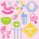 Toy,Baby Cup,Baby Food,Vector,Baby On Board,Baby Stroller,Sign,Food,Rocking Horse,Personal Accessory,Symbol,Baby Carriage,Pacifier,Potty,Baby Goods,Set,Design,Cute,Computer Graphic,Childhood,Spoon,Clip Art,Fork,teether,soother,Silverware,Computer Icon,Pink Color,Multi Colored,Babies And Children,Lifestyle,Wheel,Food And Drink,feeding-bottle,Illustrations And Vector Art