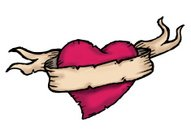 Tattoo,Heart Shape,Banner,Scroll,Vector,Rustic,Scroll Shape,Love,Valentine's Day - Holiday,Old,Symbol,Sketch,Parchment,Red,Religious Icon,Clip Art,Body Adornment,Valentine's Day,Seduction,Vector Icons,Isolated On White,Concepts And Ideas,Illustrations And Vector Art,Holidays And Celebrations