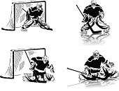 Ice Hockey,Goalie,Ice,Goal,Silhouette,Hockey Puck,Hockey Stick,Vector,Ice Skate,Playing,Sport,Ice-skating,Winter Sport,Sports Uniform,Men,Ice Hockey Stick,Shooting at Goal,Ilustration,Action,Sports Activity,Hitting,Padding,Head Protector,Recreational Pursuit,People,Isolated On White,Team Sport,White Background,Sports And Fitness,Sports Helmet,Black Color,Pursuit,Isolated,Defending,Team Sports,Vector Backgrounds,Mid Adult Men,Men's Ice Hockey,Illustrations And Vector Art,Ice Hockey League