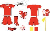 Soccer Uniform,Soccer,T-Shirt,Sports Uniform,Sport,Sock,Soccer Shoe,Soccer Ball,Sports Clothing,Shirt,Cartoon,Vector,Whistle,Shoe,Equipment,Yellow Card,Ball,White,Athleticism,Red,Sports Team,Set,Red Card,Sphere,V-Neck,Sports And Fitness,Team Sports,Soccer Equipment,Penalty Card,Authority,Professional Sport,Competitive Sport