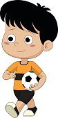 Child,124885,Cut Out,Characters,Boys,Males,Soccer,Cute,Cartoon,Ball,Healthcare And Medicine,Kicking,Illustration,People,Student,Kids' Soccer,Sport,Happiness,Soccer Ball,Playing,Team,Vector,Smiling,White Color