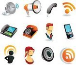 Telephone,Religious Icon,Customer,Megaphone,Symbol,Satellite,Mobile Phone,Caller ID,rss,Communication,Vector,Icon Set,Wireless Technology,Palmtop,Business,Internet,Electronic Organizer,Personal Data Assistant,Global Communications,Illustrations And Vector Art,Isolated Objects,Business,Vector Icons,Isolated-Background Objects,Business Concepts