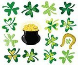 Clover,St. Patrick's Day,Irish Culture,Horseshoe,Currency,Computer Graphic,Art,Symbol,patrick,Cooking Pan,Luck,Design,Vector,Nature,Green Color,Abstract,Design Element,Color Image,Earthenware,Vector Ornaments,Holiday,Illustrations And Vector Art,One Pence Coin,Gold Colored,Clip Art,Decor,Coin,Shape,Ilustration,Decoration,Holiday Symbols,Image,Gold,Holidays And Celebrations,Ornate