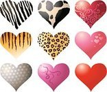 Heart Shape,Zebra Print,Tiger,Valentine's Day - Holiday,Pink Color,Animals In The Wild,Pattern,Vector,Love,Shape,Symbol,Striped,Number 9,Swirl,Animal Skin,Textured,Spotted,Set,Loving,Fur,Textured Effect,Passion,Red,Gray,Silver Colored,Domestic Cattle,Ilustration,Romance,Shiny,Collection,Coat,Spinning,Reflection,Part Of