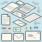 Pixelated,Symbol,Envelope,Computer Icon,Paper,Page,Mail,Letter,Newspaper,Message,Document,Application Form,Leaf,Text,Turning,Parchment,Instructions,Folded,Blank,Reminder,Information Medium,Material,White,To Do List,Message Pad