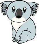 Koala,Cartoon,Animal,Zoo,Cute,Vector,Clip Art,Real People,Pets,Sitting,Characters,Illustrations And Vector Art,Drawing - Activity