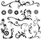 Flower,Black Color,Daisy,Pattern,White,Computer Graphic,Vector,Scroll,Swirl,Decoration,Victorian Style,Design,Abstract,Leaf,Scroll Shape,Ilustration,Art,Ornate,Old-fashioned,Sketch,Clip Art,Elegance,Composition,Vector Ornaments,Vector Florals,Illustrations And Vector Art,Flora Pattern
