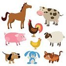No People,Horse,Agriculture,Farm,Domestic Cat,Animal,Cow,Cartoon,Mammal,Illustration,Nature,Rabbit - Animal,Chicken - Bird,Kitten,Pets,Bird,Dog,Domestic Cattle,Milk,Vector,Pig,Group Of Objects,Domestic Animals,Sheep