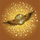 Star - Space,Disco,Gold Colored,Disco Ball,Backgrounds,Party - Social Event,Music,Shiny,Artificial Wing,Vector,Bright,Nightclub,Wing,Ilustration,Reflection,Dance,Arts And Entertainment,Music