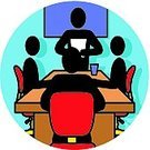Meeting,Symbol,Computer Icon,Teacher,Business,Group Of People,Conference Call,Vector,People,Table,Office Interior,Single Object,Working,Coffee - Drink,Ilustration,Industry,Employment Issues,Men,Four People,Business Meetings,Business,Reading,Occupation