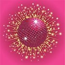 Star - Space,Disco Ball,Pink Color,Shiny,Backgrounds,Gold Colored,Vector,Reflection,Vector Backgrounds,Arts Backgrounds,Illustrations And Vector Art,Ilustration,Arts And Entertainment