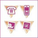 Telephone,E-Mail,Symbol,Mail,Icon Set,Mobile Phone,Postage Stamp,Touching,Snail,Sign,Computer Graphic,Communication,Ilustration,Monochrome,Illustrations And Vector Art,Business,Dial,Color Image
