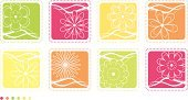 Single Flower,Flower,Backgrounds,Polka Dot,Floral Pattern,Summer,Swirl,Pink Color,Retro Revival,Green Color,Abstract,Orange Color,Vector,Outline,Ornate,Springtime,flourishes,Square Shape,Yellow,Silhouette,Icon Set,Design Element,Design,Blossom,Plant,Nature,Curve,Scroll Shape,Set,Group of Objects,Vector Icons,Illustrations And Vector Art,Curled Up
