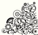 Drawing - Activity,Flower,Pattern,Vector,Floral Pattern,Decoration,Drawing - Art Product,Ilustration,flourishes,Backgrounds,Scroll,Scroll Shape,Ornate,Design,Leaf,Victorian Style,White,Creativity,Nature Abstract,Wallpaper Pattern,Nature,Painted Image,Curled Up,Art,Curve