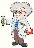 Scientist,Cartoon,Chemist,Laboratory,Science,Professor,Intelligence,Chemistry,Chemical,Research,School Building,Education,Vector,Study,Scientific Experiment,Drawing - Art Product,Ilustration,Men,Coat,Technology,Art,Drawing - Activity,Bottle,Analyzing,Studying,Learning,Art Product,Flask,Cute,Jar,Isolated,Illustrations And Vector Art,One Person,Smiling,Color Image