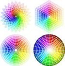 Color Wheel,Rainbow,Colors,Color Swatch,Circle,Spectrum,Pattern,Abstract,Concentric,Multi Colored,Vector,Design,Psychedelic,Design Element,Painted Image,Part Of,High Contrast,Vibrant Color,Bright,Set