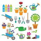 Flower,Agriculture,Carrot,Plant,Outdoors,Equipment,Work Tool,Can,Irrigation Equipment,Radish,Seedling,Garden Hose,Summer,Button,Illustration,Nature,Accidents and Disasters,Watering Can,Symbol,Hose,Flower Pot,Single Flower,Rake,Courtyard,Natural Disaster,Worm,Botany,Gardening Equipment,Environment,Bed,Gardening,Formal Garden,Watering,Water,Repairing,Bench,Dirt,Lifestyles,Vector,Springtime,Group Of Objects,Snail