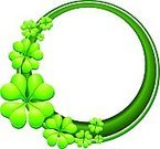 Clover,St. Patrick's Day,Four Leaf Clover,Luck,Celtic Culture,Clover Leaf Shape,Leaf,Green Color,Backgrounds,Circle,Vector,Design,Plant,Concepts,Irish Culture,Abstract,Republic of Ireland,Illustrations And Vector Art,17 March,Ilustration,Nature,Copy Space,Celebration,National Holiday,Horizontal,Holidays And Celebrations