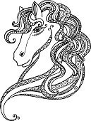 Abstract,Stallion,Horse,Computer Graphics,Sketch,Background,Farm,Doodle,Animal,Sea,Illustration,Nature,Shape,Isolated,Computer Graphic,Decoration,Drawing - Activity,Backgrounds,Beauty In Nature,Vector,Design,Drawing - Art Product,Pattern,Tattoo,White Color,Black Color