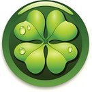 Four Leaf Clover,Clover,St. Patrick's Day,Clover Leaf Shape,Celtic Culture,Leaf,Luck,Drop,Water,Irish Culture,Republic of Ireland,Green Color,Ilustration,Design,Interface Icons,Vector,Dew,Holidays And Celebrations,National Holiday,Horizontal,Plant,Celebration,Nature,17 March,Concepts,Illustrations And Vector Art