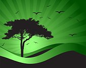 Tree,Silhouette,Landscape,Vector,Seagull,Computer Graphic,Hill,Bird,Sun,Design,Freedom,Sunbeam,Old,Life,Tranquil Scene,Art,Nature,Pattern,Relief,Field,Meadow,Plant,Sky,Backgrounds,Ilustration,Beautiful,Rural Scene,Leaf,Outdoors,Scenics,Non-Urban Scene,Land,Nature Backgrounds,Vector Backgrounds,Freshness,Landscapes,Beauty In Nature,Sunlight,Season,Colors,Painted Image,Illustrations And Vector Art,Nature