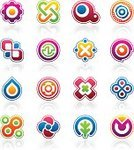 Drop,Water,Shape,Gear,Geometric Shape,Circle,Symbol,Abstract,Insignia,Religious Icon,Computer Graphic,Design Element,Leaf,Sparse,Modern,Symmetry,Orange Color,Icon Set,Vector,Green Color,Curve,Purple,Blue,Pink Color,Vector Icons,Clip Art,Illustrations And Vector Art